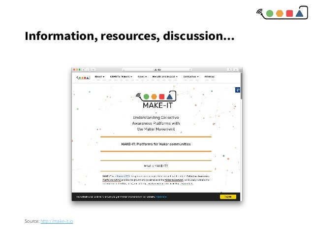 Information, resources, discussion... Source: http://make-it.io