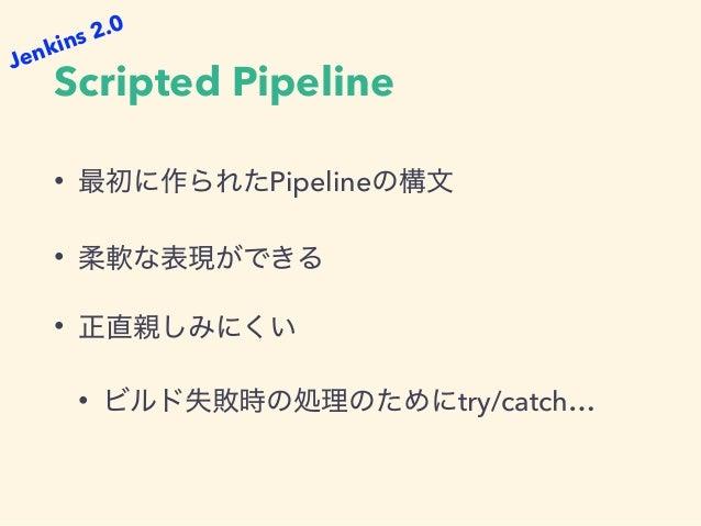 "Build in Container // simple agent { docker ""ubuntu:16.04"" } // specify label & args agent { docker { image ""ubuntu:16.04""..."
