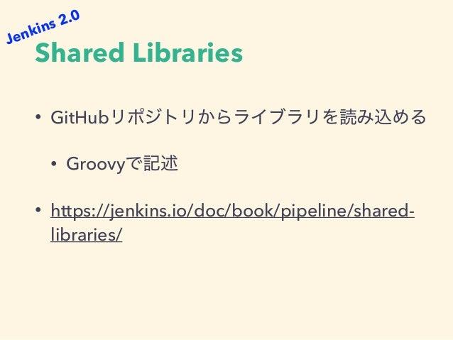 Multibranch Pipeline • • Jenkinsfile • Jenkins 2.0