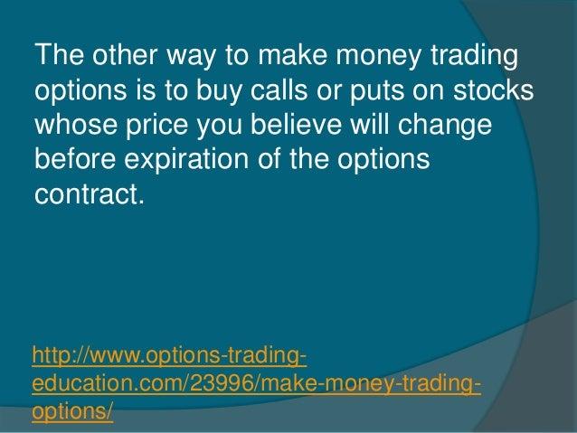 Binary call option trade signals