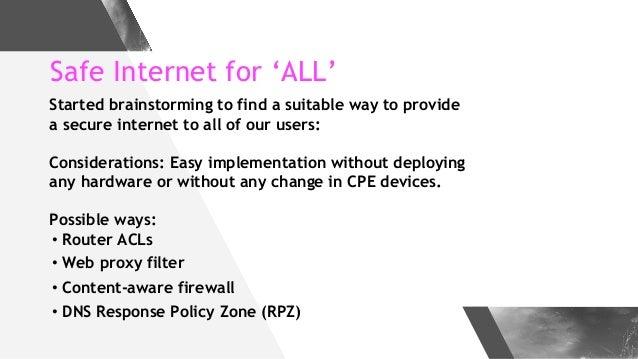 Make Internet Safer with DNS Firewall - Implementation Case Study at a Major ISP Slide 2