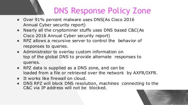 Make Internet Safer with DNS Firewall - Implementation Case Study at a Major ISP Slide 3