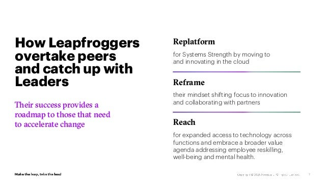 7 Their success provides a roadmap to those that need to accelerate change Replatform for Systems Strength by moving to an...