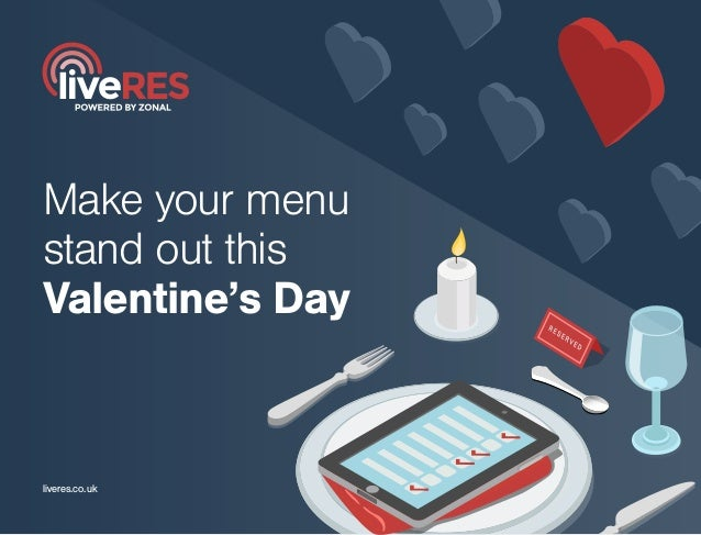 Make your menu stand out this Valentine's Day liveres.co.uk