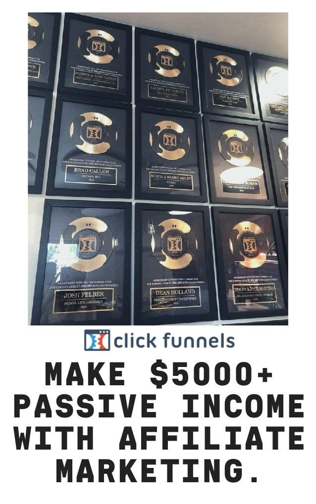 MAKE $5000+ PASSIVE INCOME WITH AFFILIATE MARKETING.