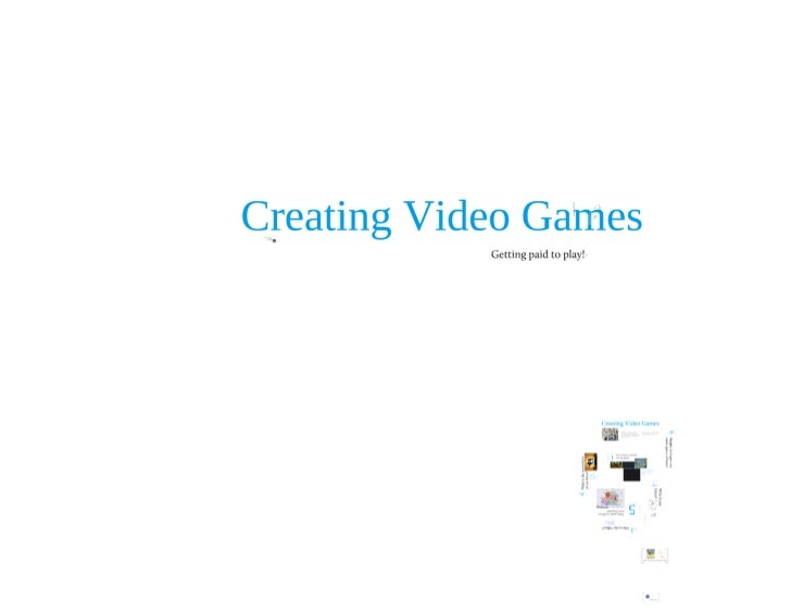 Making video games - Middle school lecture