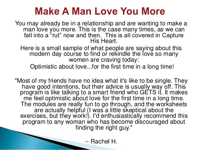 How To Fabricate Love To Man