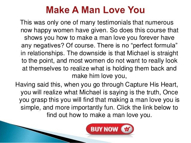 How To Make A Man Stay In Love