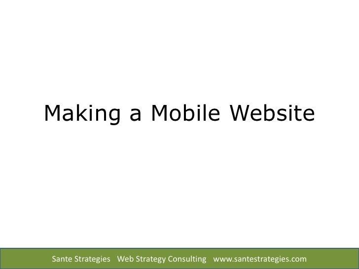 Make a Mobile Web Site