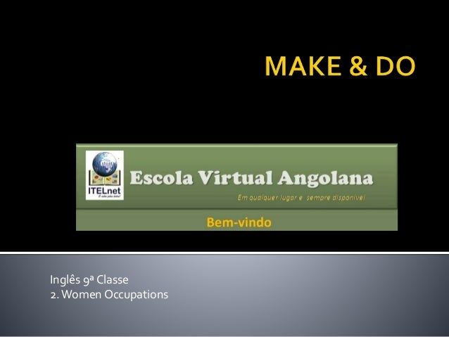 Inglês 9ª Classe 2.Women Occupations