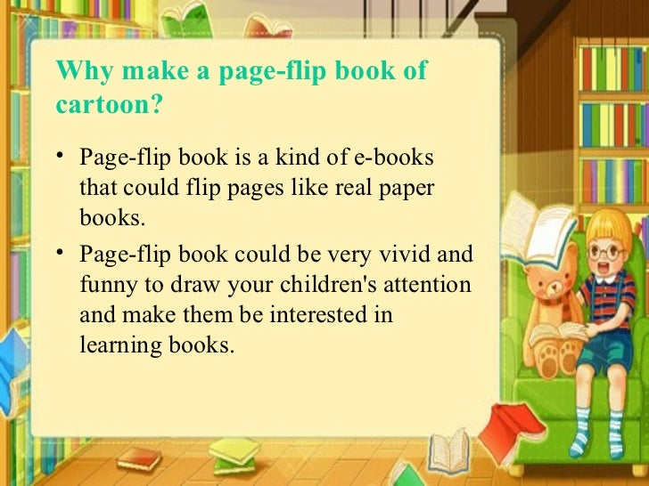 Make a page flip book of cartoon