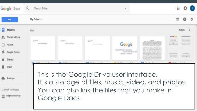 make a presentation using google slides