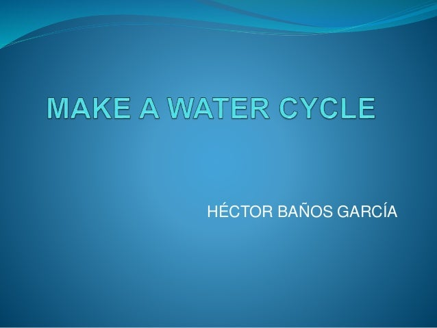 how to make water cycle