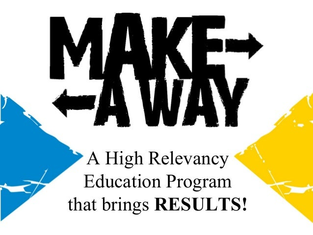 A High Relevancy Education Program that brings RESULTS!