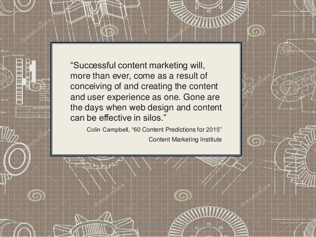 """Copyright PB Jumpstart 2015 Call 662 988-2166 """"Successful content marketing will, more than ever, come as a result of conc..."""
