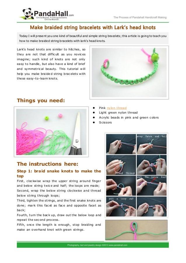 make braided string bracelets with lark
