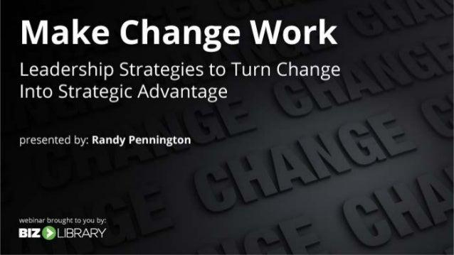 Presenting Today Randy Pennington Speaker, Author, Expert The Pennington Group @RandyPennington Krista Brubaker Content Ma...