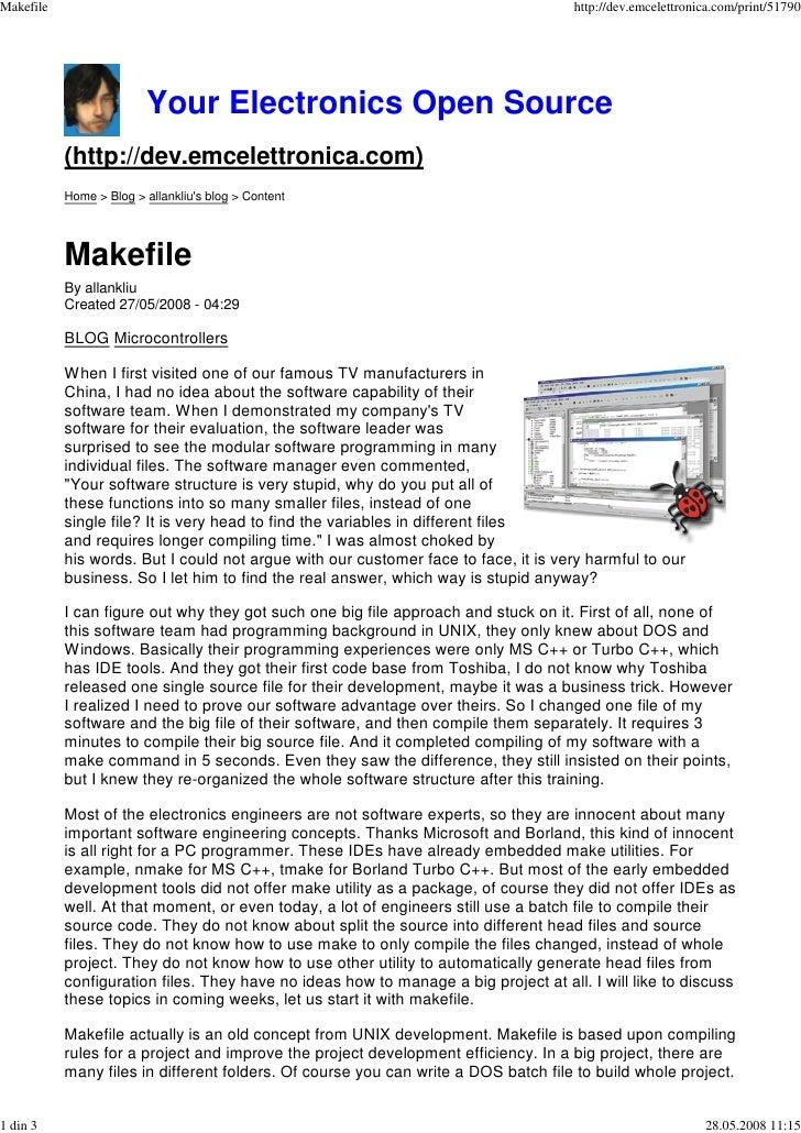 Makefile                                                                             http://dev.emcelettronica.com/print/5...