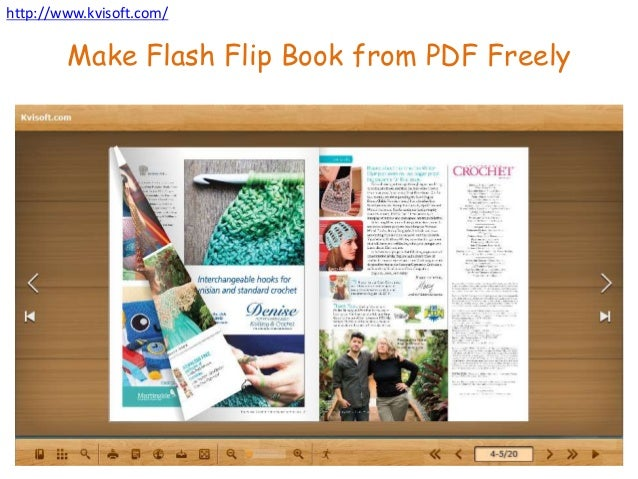 make flash flip book from pdf for free