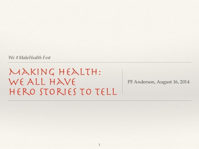 We #MakeHealth Fest Making Health: 