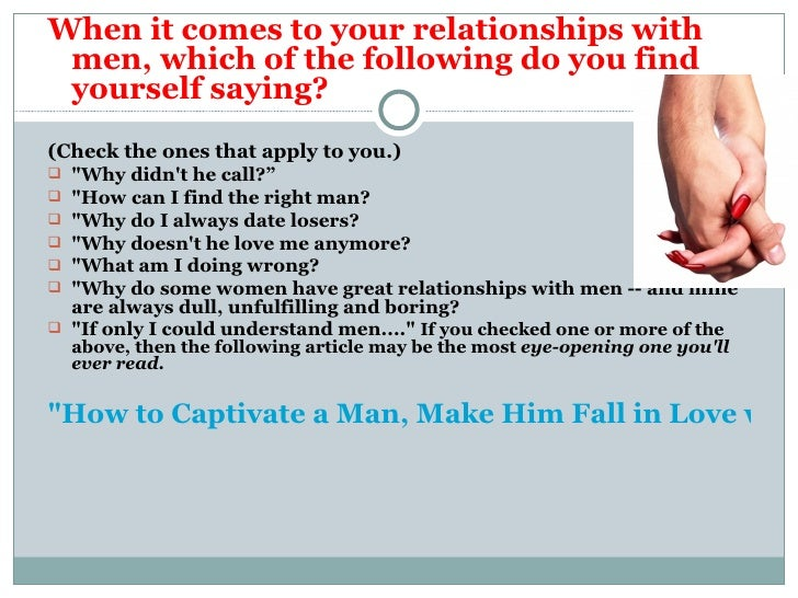How To Help Him Fall In Love With You