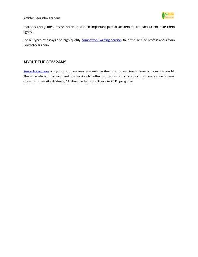 high quality essay