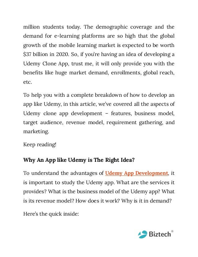 Make learning easy with udemy clone app development [a detailed guide] Slide 2