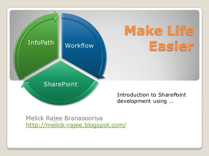 Make LifeInfoPath            Workflow              Easier     SharePoint                              Introduction to Shar...