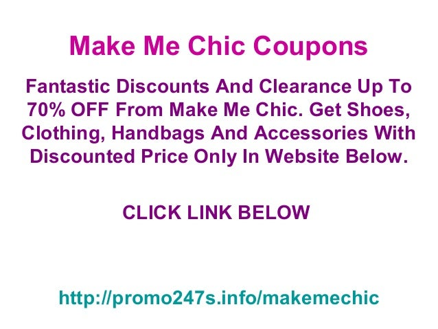make me chic coupons code november 2012 december 2012 and january 20