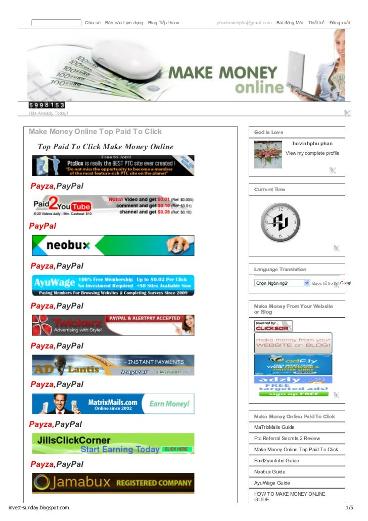Make money online coupons