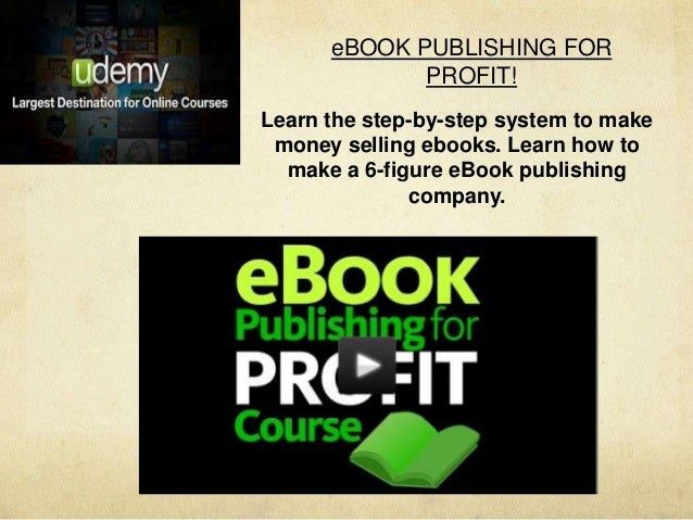 can you make money selling ebooks