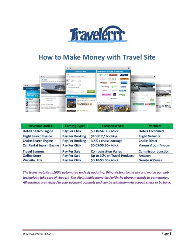 Travel Affiliate Program - How to Make Money with Travel Site