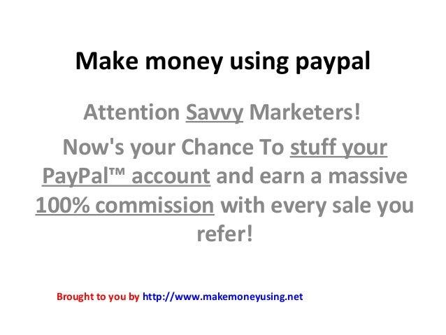 Make money using paypal
