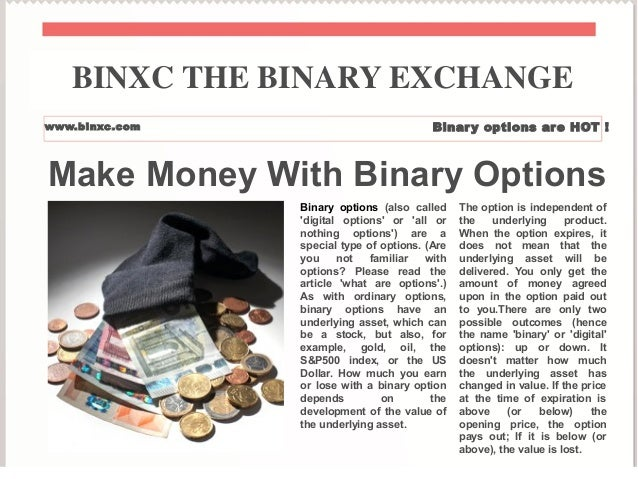 Can i make money with binary options