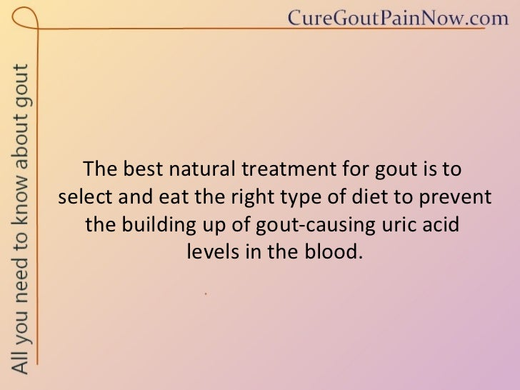 Natural Ways To Prevent Gout