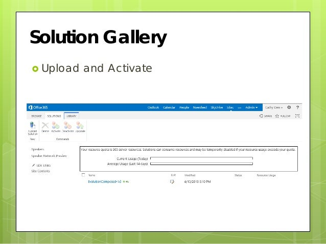 sharepoint solutions gallery