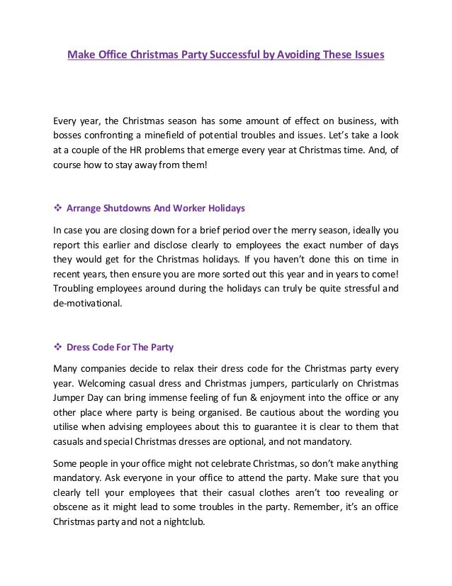 0549b139df Make Office Christmas Party Successful by Avoiding These Issues Every year