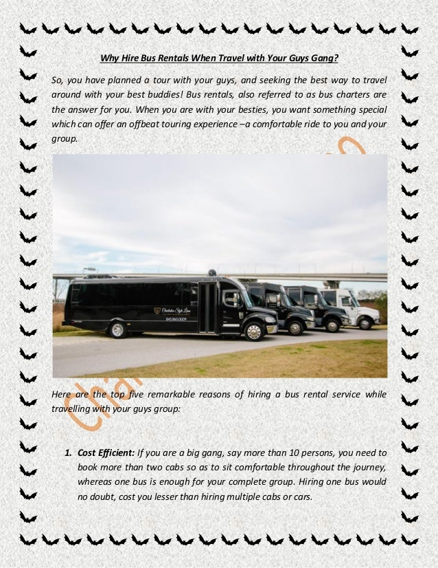 Hire A Tour Bus In Charleston