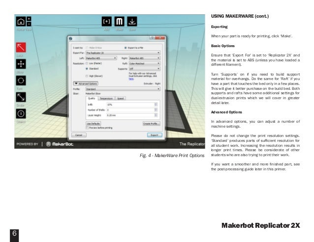 Makerbot replicator 2x software