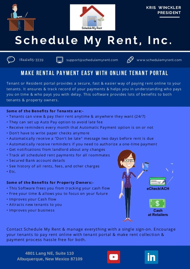 make rental payment easy with online tenant portal schedule my rent