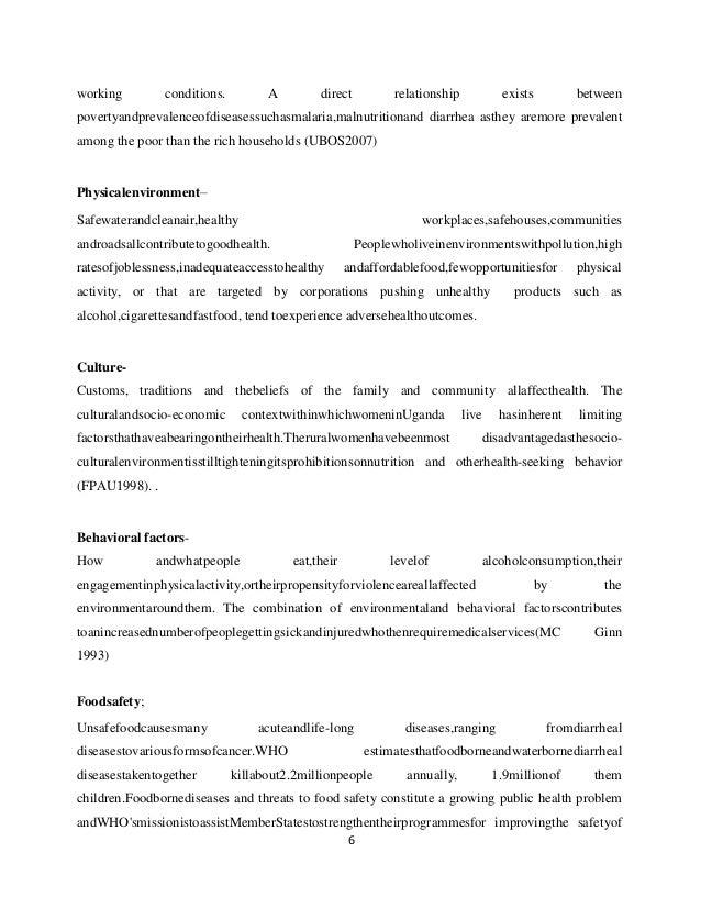 Nakasongola Community Diagnosis Report
