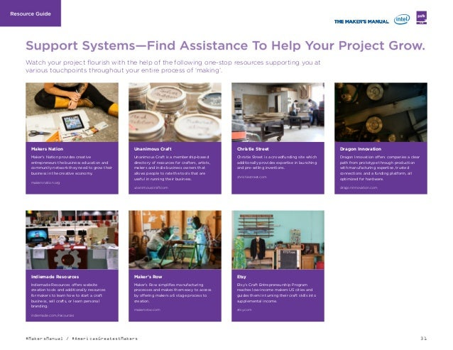 31#MakersManual / #AmericasGreatestMakers LABS Watch your project flourish with the help of the following one-stop resourc...