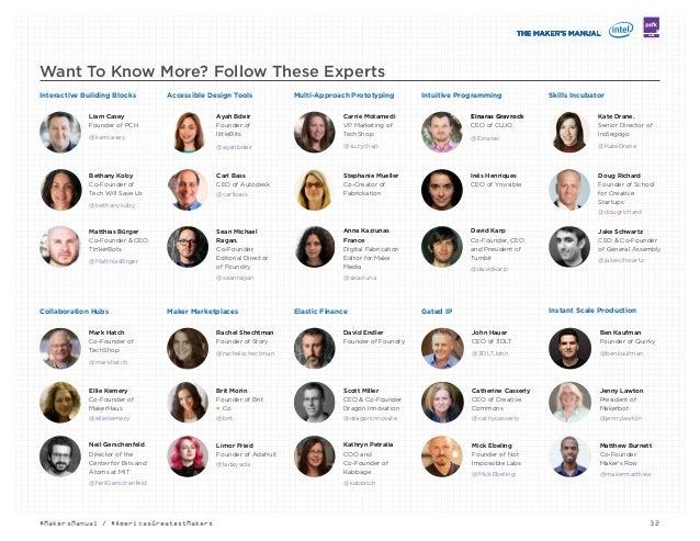 LABS 32#MakersManual / #AmericasGreatestMakers Matthew Burnett Co-Founder. Maker's Row @makermatthew Jenny Lawton Presiden...