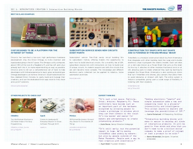 BEST IN CLASS EXAMPLES 8#MakersManual / #AmericasGreatestMakers LABS littleBits Toy-like Modular Electronics Set Adds Ardu...