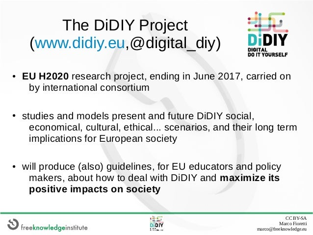 The Digital DIY phenomenon: challenge or opportunity for degrowth? Slide 3