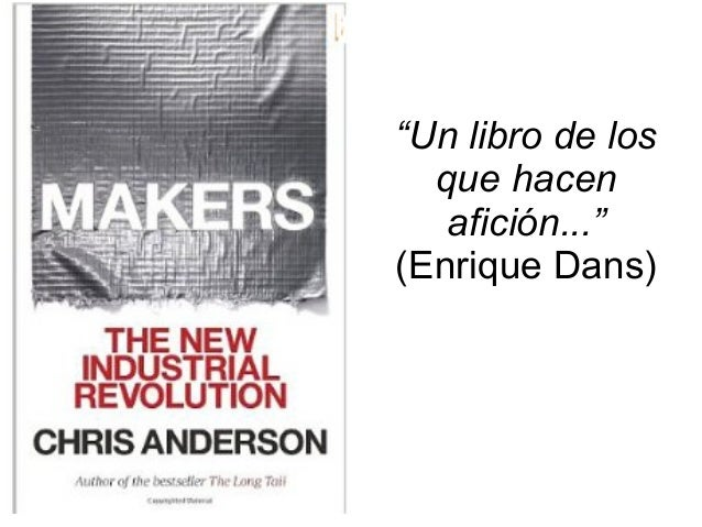 Makers la nueva revoluci n industrial conferencia en camon alicante - Diseno industrial alicante ...