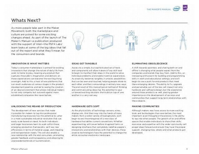 PSFK The Maker's Manual 2014 Slide 3