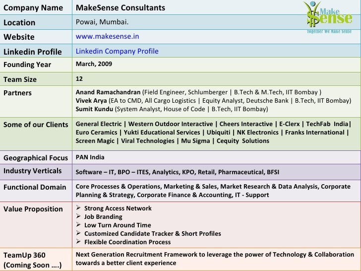 Make sense profile - General electric india corporate office ...