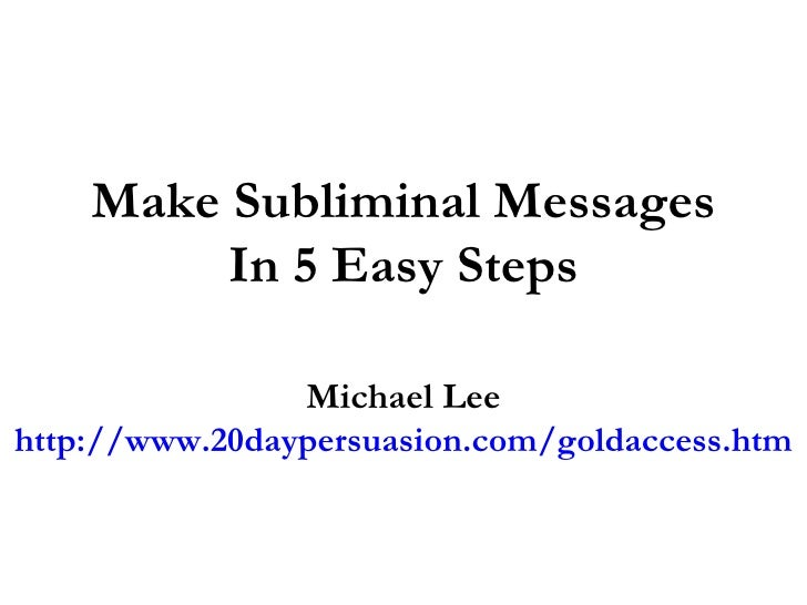 how to read subminal messages How to correctly listen a subliminal audio visual messages are a complement to audio messages, since the last ones has more strength and prime over the visuals.