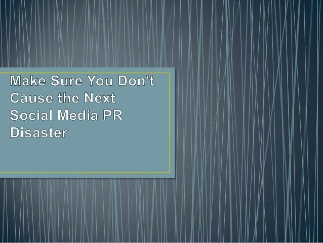 •   The power of social media in having both a positive and negative influence cannot be underestimated.•   The opportunit...
